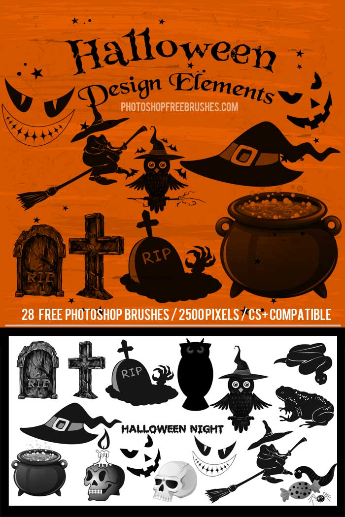 halloween design brushes