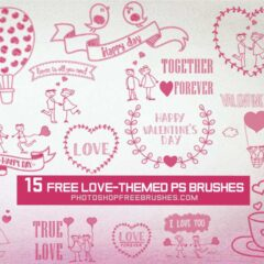 15 Free Love-Themed PS Brushes for Valentine's Day