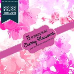 13 High-Res Cherry Blossoms Photoshop Brushes