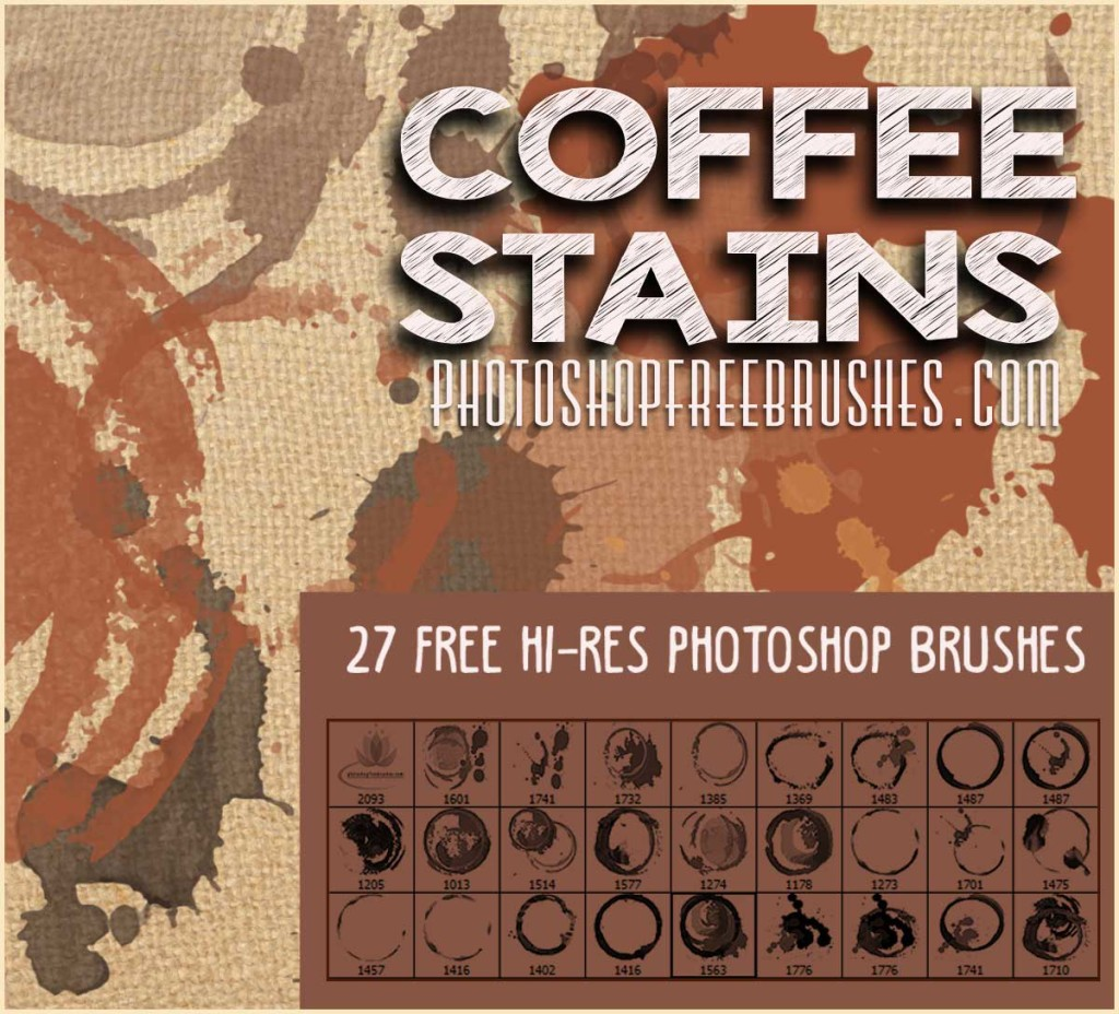 coffee stains grunge brushes