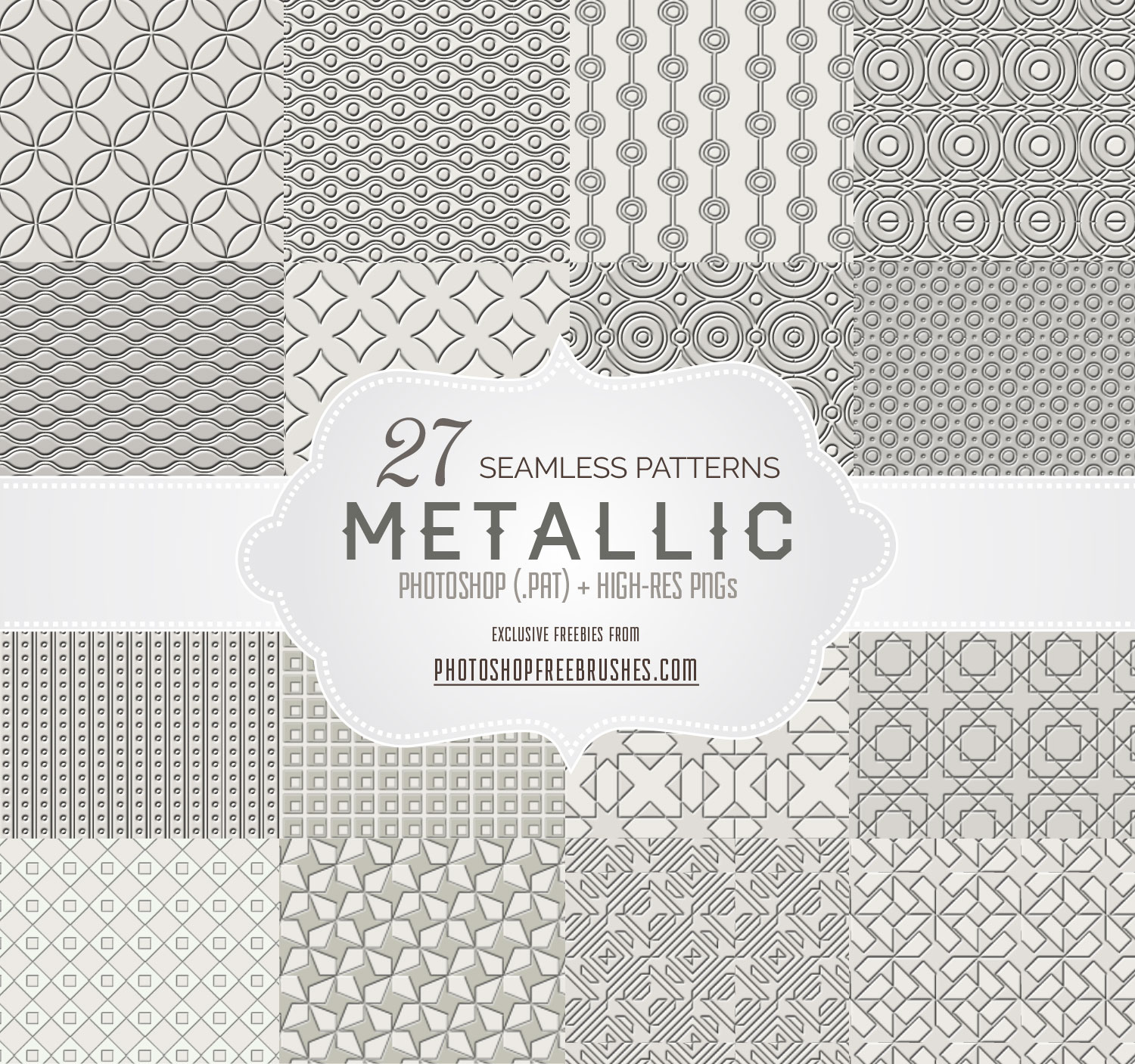 metallic gray patterns