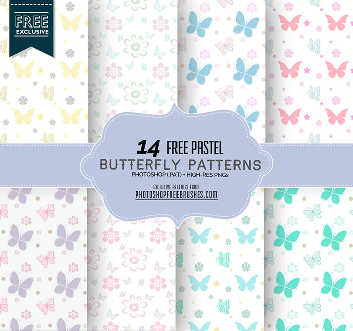 pastel butterfly patterns