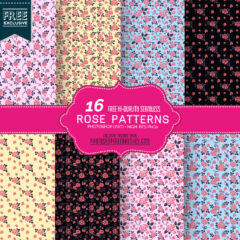 16 Free Seamless Rose Pattern Backgrounds