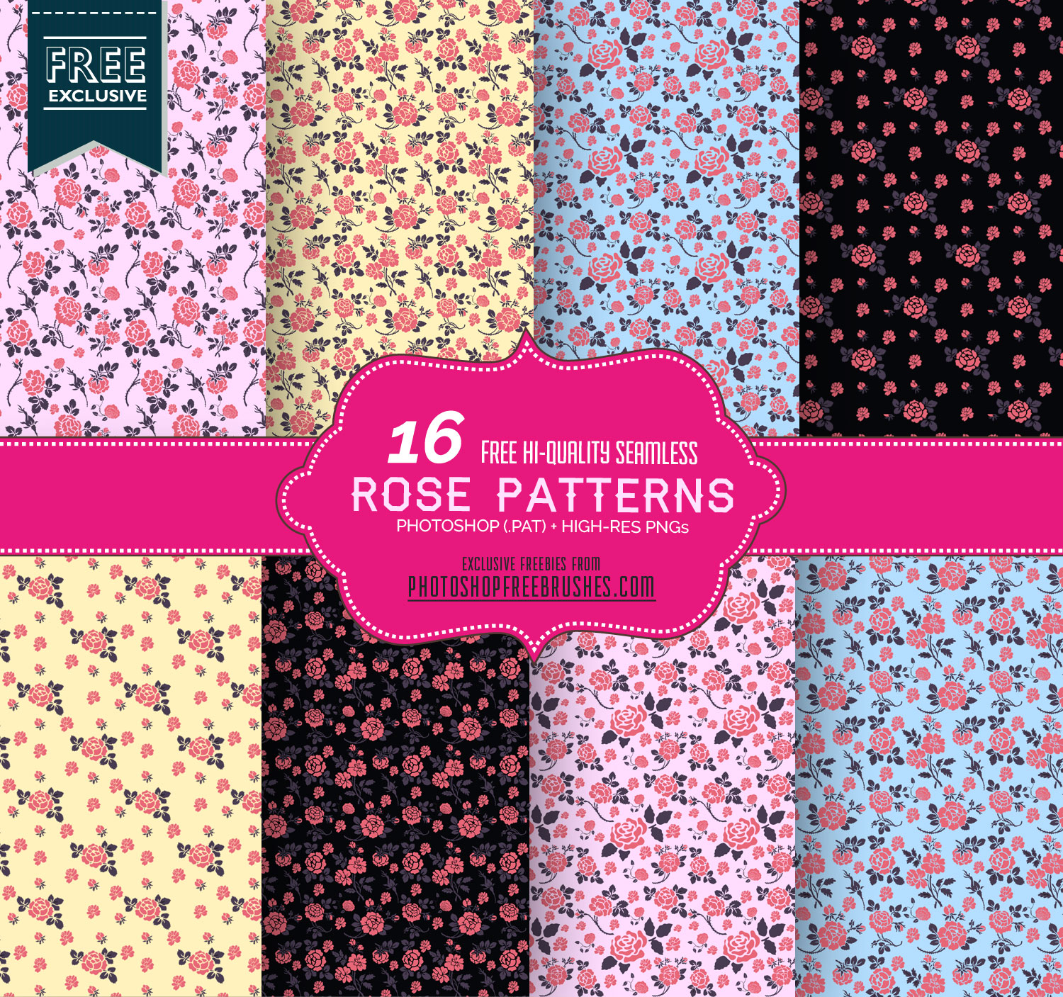 seamless rose flower pattern backgrounds