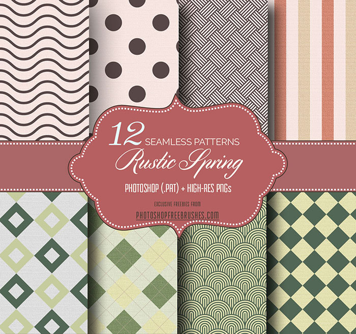 rustic spring geometric patterns
