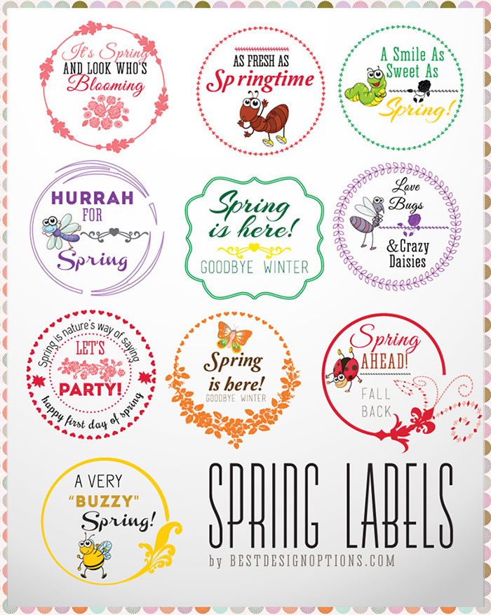 vector spring labels