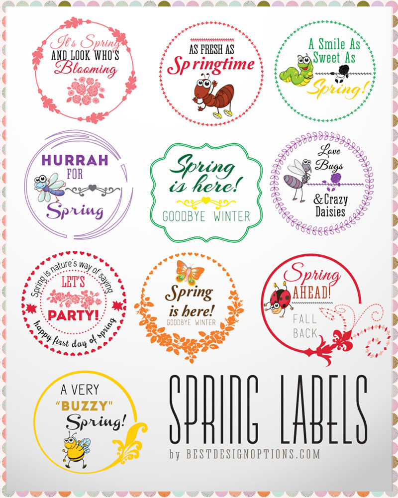 free spring labels photoshop brushes