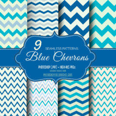 Blue Chevron Seamless Background Patterns