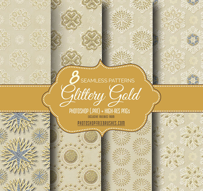 gold seamless patterns