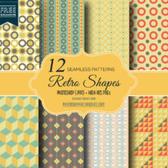 12 Geometric Retro Repeating Patterns