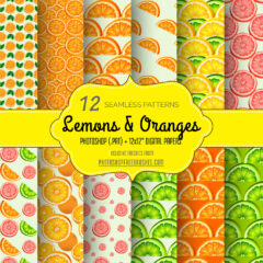 Lemons and Oranges: 12 Free Fruity Patterns