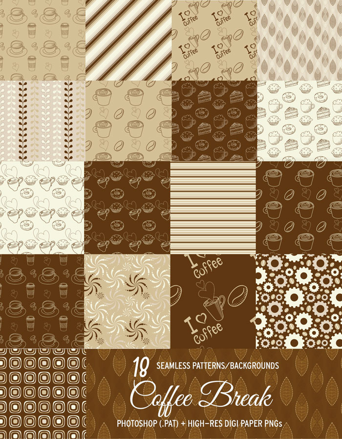 coffee patterns backgrounds