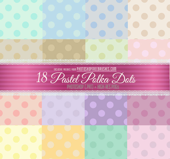 pastel polka dots patterns