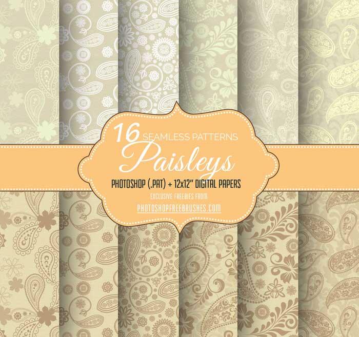 seamless paisley patterns