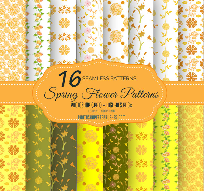 yellow flower patterns