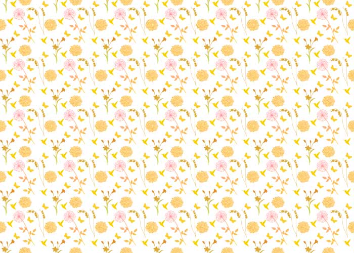 yellow floral pattern - photo #13