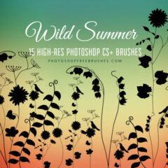 21 Wild Vines and Grasses Brush Set