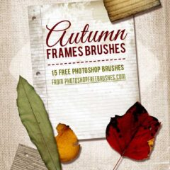 15 Frames PS Brushes for Fall DIY Projects