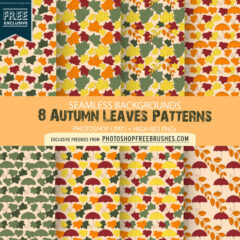 8 Autumn Leaf and Umbrella Patterns and Backgrounds