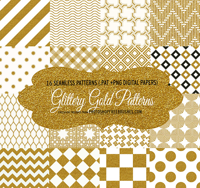 glittery gold patterns