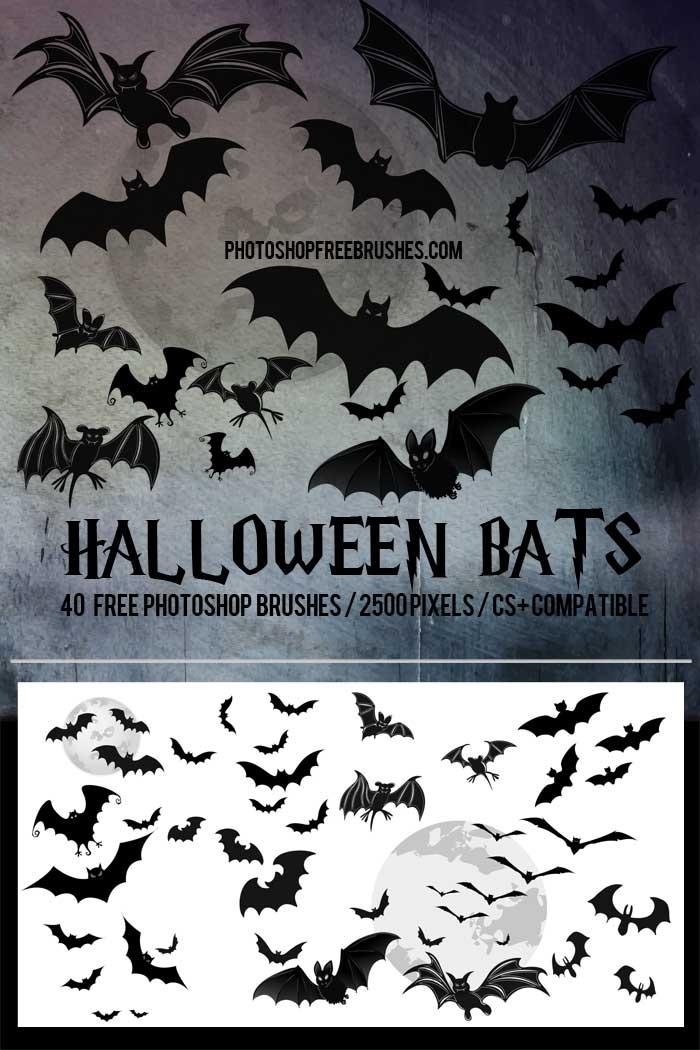 halloween-bats-brushes