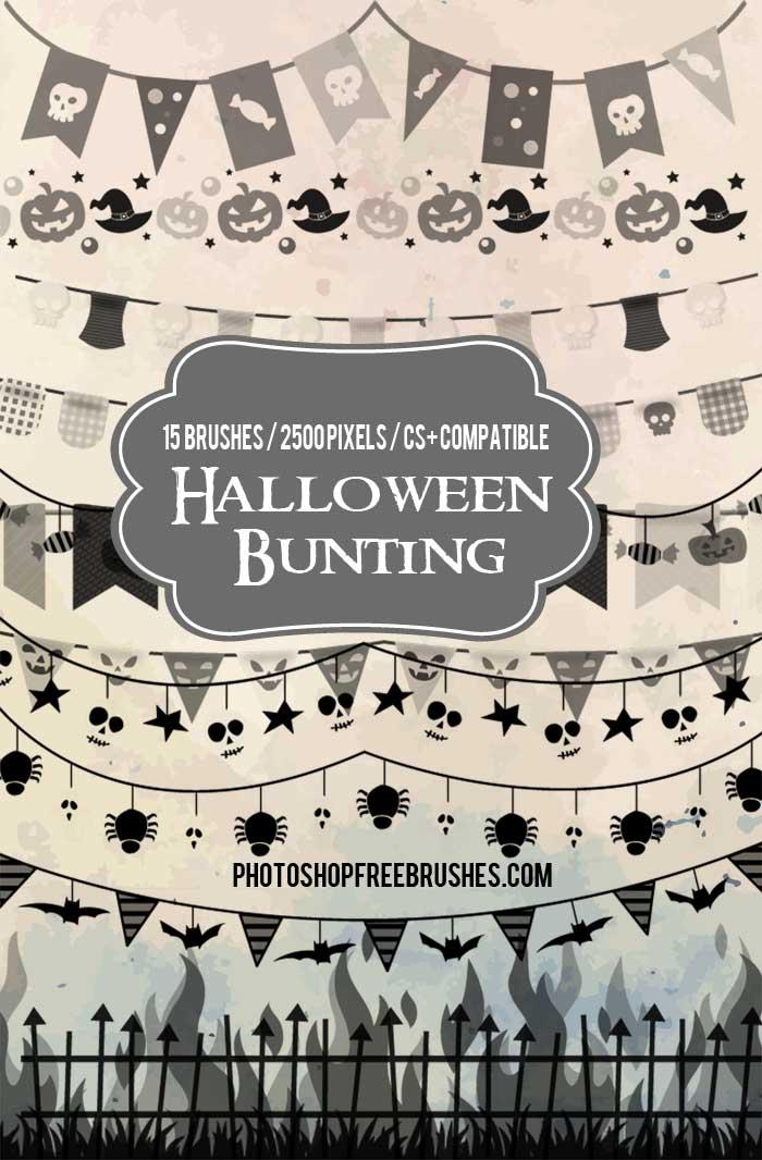 halloween-bunting-brushes