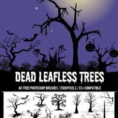 40+ Free Halloween Dead Trees Brushes