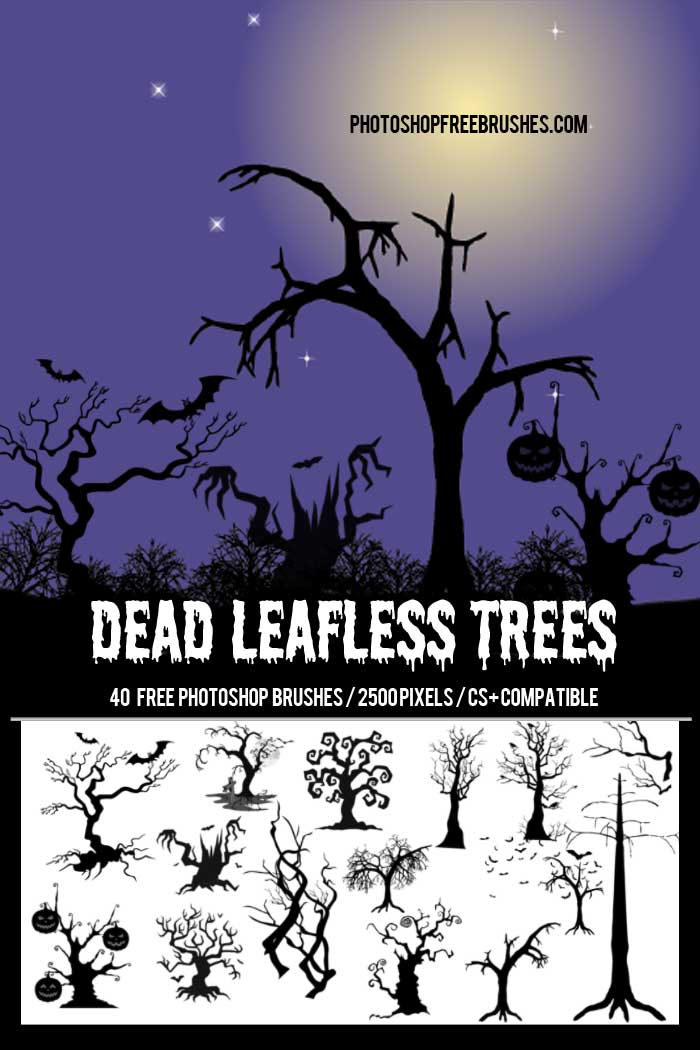 halloween dead tree brushes