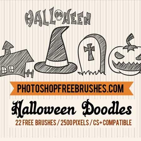 halloween-doodles-brushes