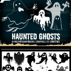 18 Free Halloween Ghosts Brushes for Photoshop