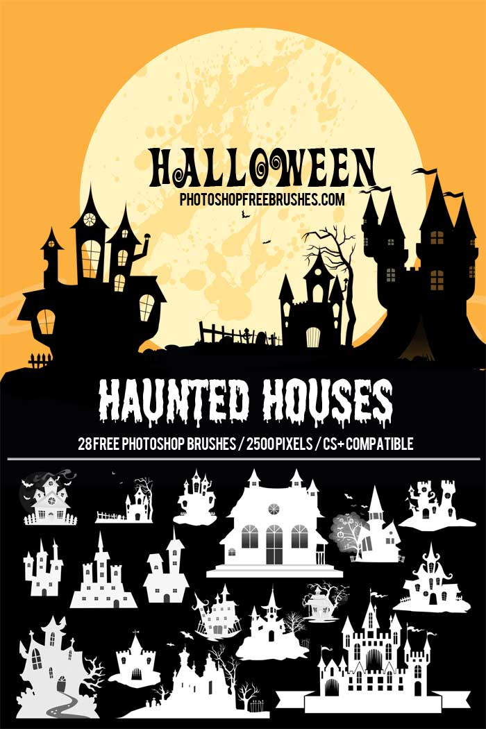 haunted halloween brushes