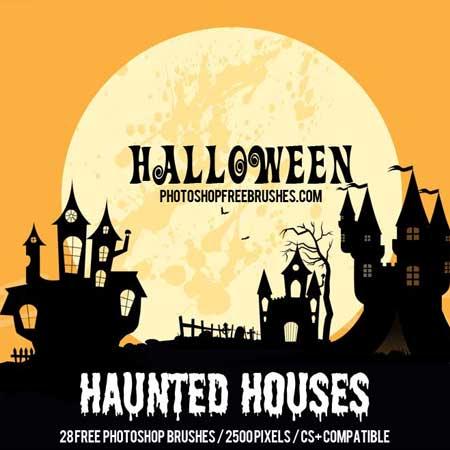 halloween-haunted-house-brushes