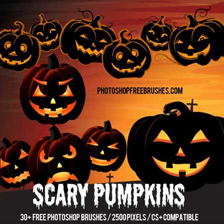 halloween-scary-pumpkins-brushes