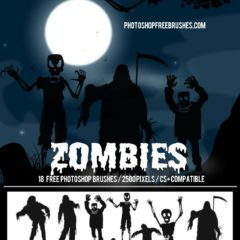 18 Zombie Photoshop Brushes for Halloween
