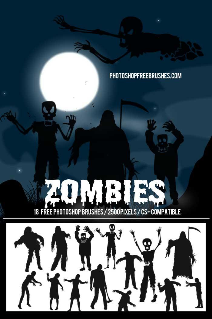 halloween zombie brushes