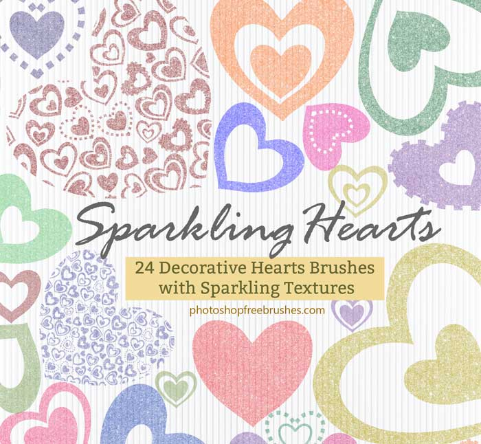 sparkling hearts brushes