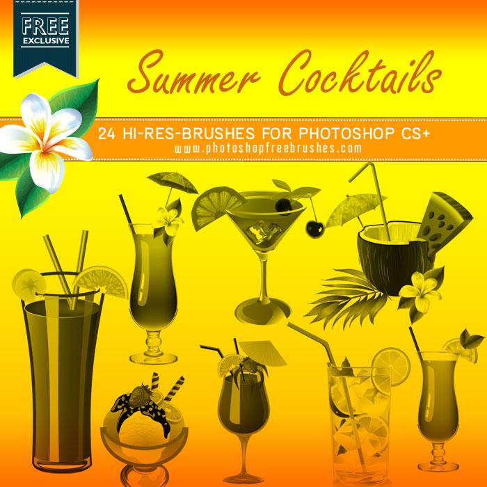 summer cocktails brushes