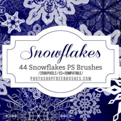 44 High-Quality Snowflakes Photoshop Brushes