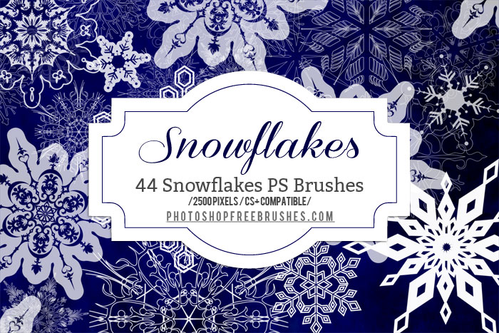 winter snowflakes brushes