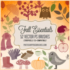 Autumn Essentials: 50+ Photoshop Brushes
