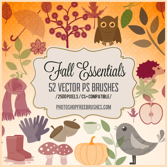 autumn fall brushes