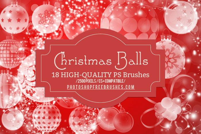 christmas balls brushes