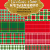 14 Christmas Plaid and Checkered Patterns