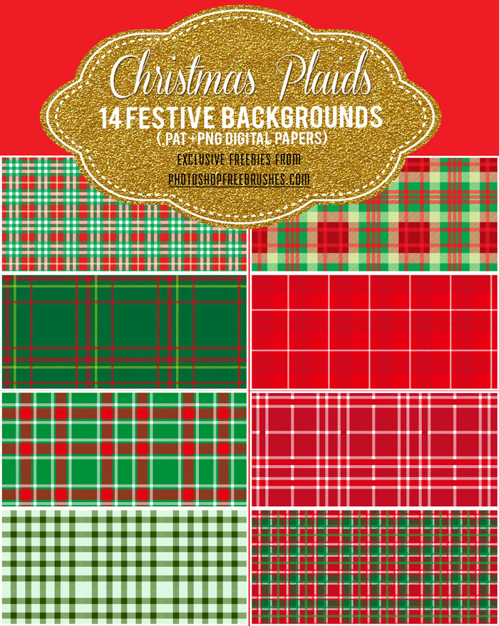 christmas plaids patterns