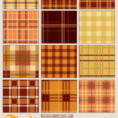 12 Seamless Fall and Autumn Plaid Patterns
