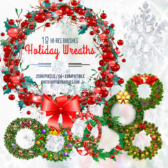 18 Christmas Wreaths and Holiday Garland Brushes
