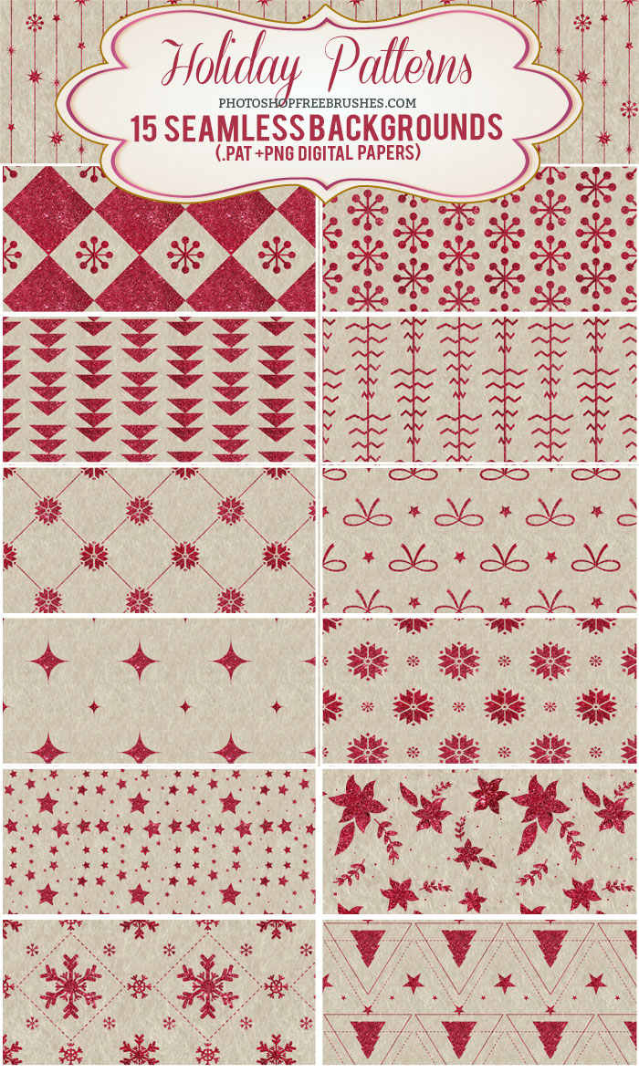 red sparkling holiday patterns