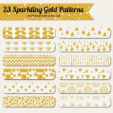 23 Glittery Gold Patterns Vol.1