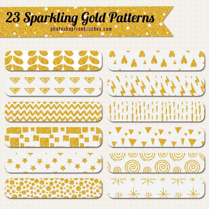 sparkling gold patterns