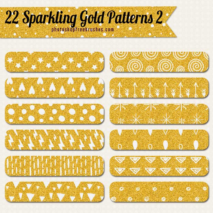 sparkling gold patterns